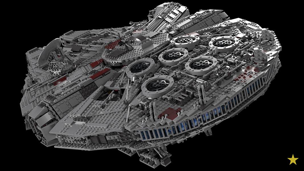 Photoreal LEGO Rendering: 10179 - Millennium Falcon UCS - LEGO Digital ...